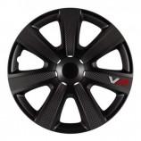 4Racing Колпаки VR Carbon black R14 (Комплект 4 шт.)