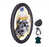 Чехол на руль Чехол руля 396 XL черный/БО/перфорированная кожа