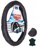Чехол на руль 6510 XL черный/ кожа