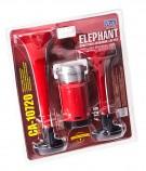 Сигнал воздушный CA-10720 Еlephant 2-дудки пластик красный 12V