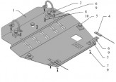 Кольчуга Защита двигателя, коробки передач, радиатора Acura RL 2004-2012