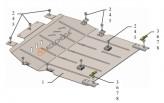 Кольчуга Защита двигателя, коробки передач Citroen C4 Picasso Spacetourer 2018-