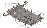 Кольчуга Защита двигателя, коробки передач, радиатор Citroen Jumper 2014-