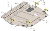 Кольчуга Защита двигателя, коробки передач Honda Civic X 5D хетчбэк 2017-