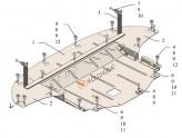 Кольчуга Защита двигателя, коробки передач, радиатора Kia Ceed 2018-
