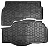 Резиновый коврик в багажник Ford Fusion 2013- Mondeo 2014- (из двух частей) Hybrid