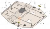 Кольчуга Защита двигателя, коробки передач, радиатора Mitsubishi Eclipse Cross 2017-