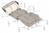 Защита двигателя, коробки передач, радиатора, редуктора Nissan Pathfinder III 2005-2012