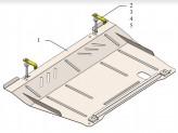 Кольчуга Защита двигателя, коробки передач, радиатора Opel Corsa D 2006-2015