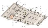 Защита двигателя, КПП Subaru Outback 2009-2014