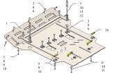 Защита двигателя, коробки передач, радиатора Volkswagen Phaeton 2002-2016