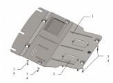 Защита двигателя, коробки передач, радиатора, кондиционера VW T5 T6