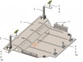 Защита двигателя, коробки передач, радиатора Volkswagen T-ROC