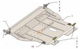 Кольчуга Защита двигателя, коробки передач Ravon Nexia R3 2015-