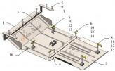 Кольчуга Защита двигателя, коробки передач, радиатора Hyundai H350 2014-