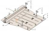 Кольчуга Защита двигателя, коробки передач Toyota RAV 4 (ДВС и HYBRID) 2019-