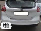 Nataniko Накладка на бампер с загибом Ford Focus (хэтчбек) 2015-2018