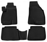Резиновые глубокие коврики Hyundai Santa Fe 2000-2006