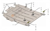 Защита двигателя, коробки передач Citroen C4 Picasso 2016-