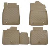 Резиновые глубокие коврики Lexus ES (250/350, 300h) 2012- БЕЖЕВЫЕ