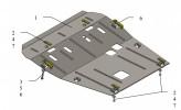 Кольчуга Защита двигателя, КПП, радиатора Lada Largus/XRAY