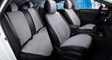 CarFashion Накидки универсальные Premium Monaco PLUS (черный/серый)