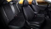 CarFashion Накидки универсальные Premium Monaco PLUS (чёрный/синий)