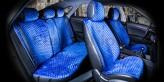 CarFashion Накидки универсальные Premium CITY PLUS (синий/синий)