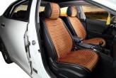 CarFashion Накидки универсальные Premium Monaco PLUS (черный/св.коричневый)