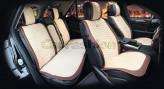 CarFashion Накидки универсальные Premium Capri PLUS (коричневый/бежевый)