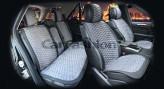 CarFashion Накидки универсальные Premium Capri PLUS (черный/серый)