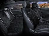 CarFashion Накидки универсальные Premium California PLUS (черный/черный)