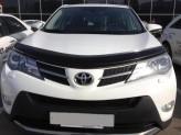 Дефлектор капота Toyota Rav4 2012-2015- (с подгибом)