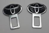 Заглушки ремня безопасности Toyota ЧЁРНЫЕ