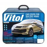 Vitol Тент автомобильный на джип/минивен L с подкладкой PEVA+non PP Cotton 457х185х145