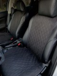 Накидки на передние сидения Чёрные (алькантара)
