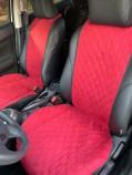 Накидки на передние сидения Красные (алькантара)