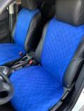 Накидки на передние сидения Синие (алькантара)