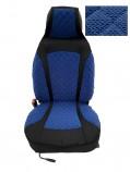 Накидки на сидения Синие комбинированный Pilot (передние)