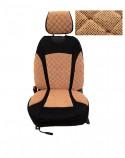 Накидки на сидения Бежевые комбинированный Standart (передние)