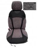 Накидки на сидения Серые (черная нитка) комбинированный Standart (передние)