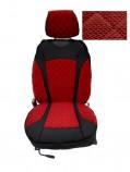 Накидки на сидения Красные комбинированные Standart (передние)