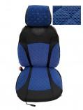 Накидки на сидения Синие комбинированные Standart (передние)