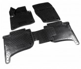 Резиновые глубокие коврики VW Touareg 2010-2018 2-х зонный климат контроль