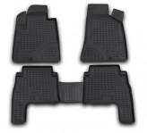 Резиновые глубокие коврики Hyundai Santa Fe 2006-2010