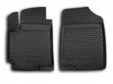 Резиновые глубокие коврики передние Hyundai Accent 2010-2014