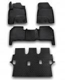 Резиновые глубокие коврики Lexus LX 570 7 мест 2012-