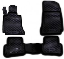 Резиновые глубокие коврики MERCEDES С-Class W204 2007-2014