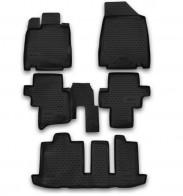 Резиновые глубокие коврики NISSAN Pathfinder 2014-