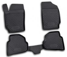 Резиновые глубокие коврики VW Polo 2010- седан